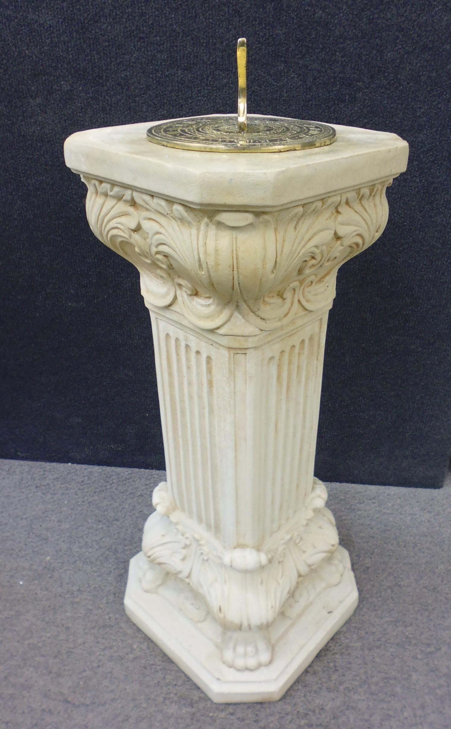 sundials furniture building english dial f main sun at column sundial l pedestal garden id